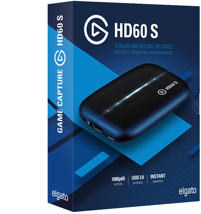 Elgato Game Capture HD60S Stream, record and share your gameplay in 1080p60.