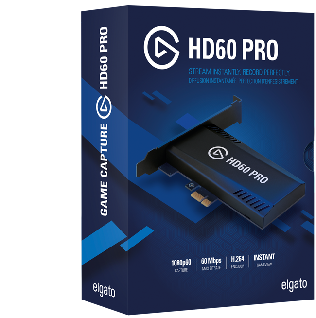 Elgato Game Capture HD60 Pro Stream, record and share your gameplay in 1080p60 - without compromise.