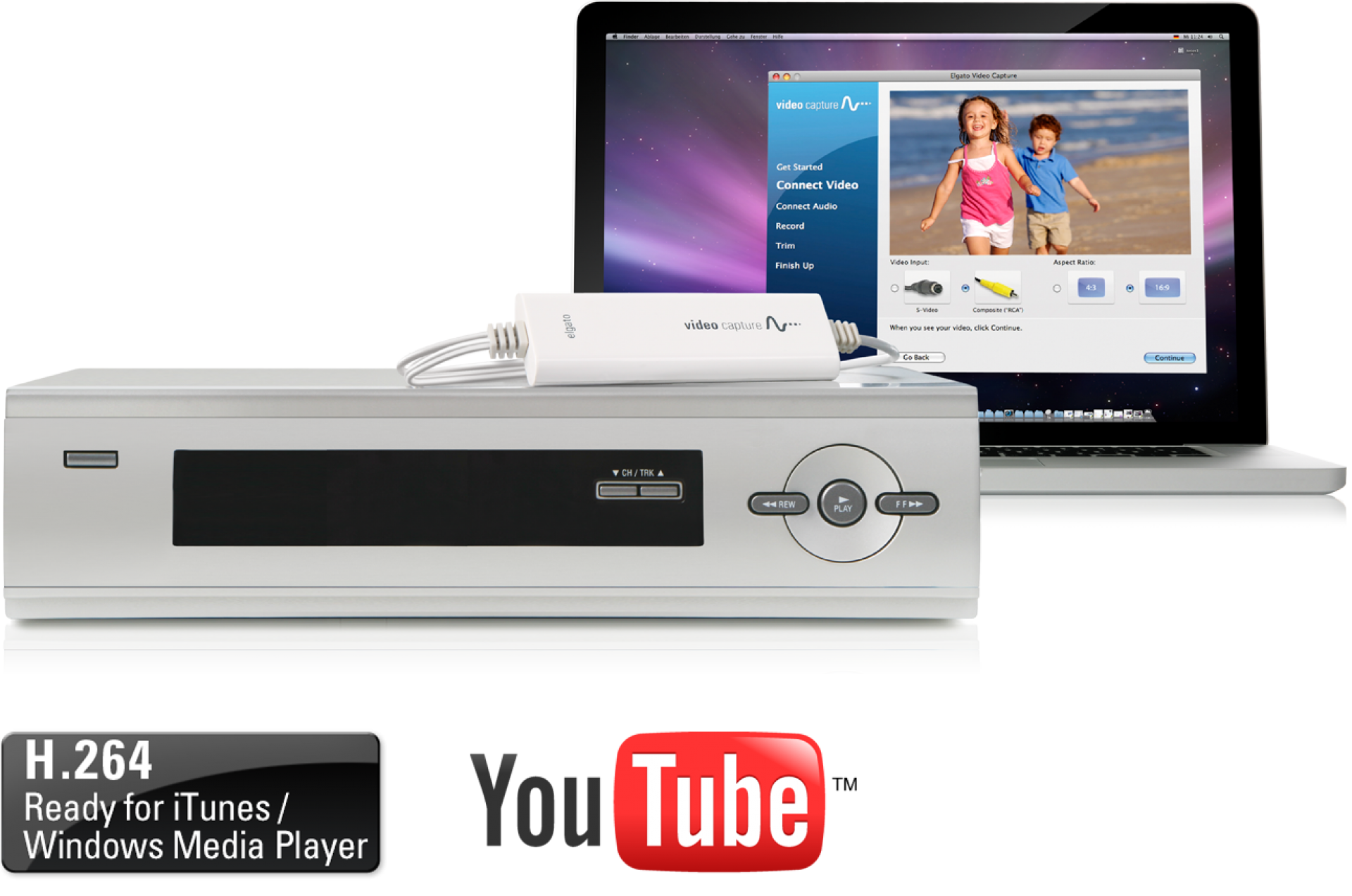 Digitize video from a VCR, camcorder and other analogue video sources for  playback on your Mac, PC and iPad
